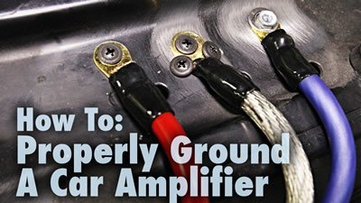 how to properly ground a car amplifier